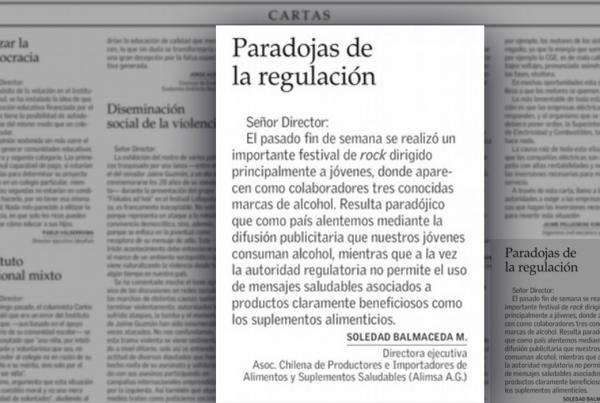 noticia carta al director paradoja de la regulación