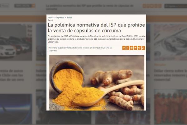 La polémica normativa del ISP que prohíbe la venta de cápsulas de cúrcuma